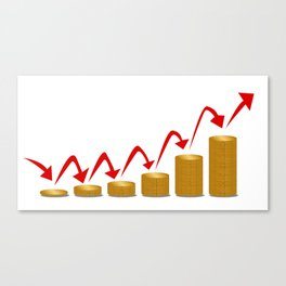 Rising Money Steps Canvas Print