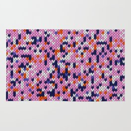 Knitted multicolor pattern 5 Rug