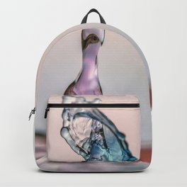 Red and Blue Water drop collision Backpack