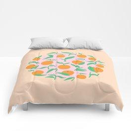 Orange Garden Comforters
