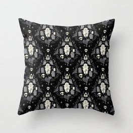 Graveyard Ghouls Throw Pillow