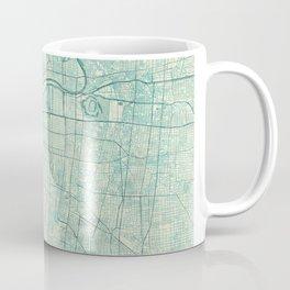 Osaka Map Blue Vintage Coffee Mug