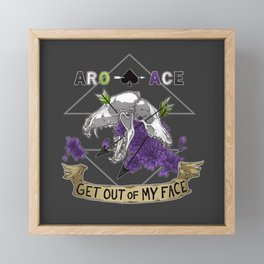 Aro+Ace Framed Mini Art Print