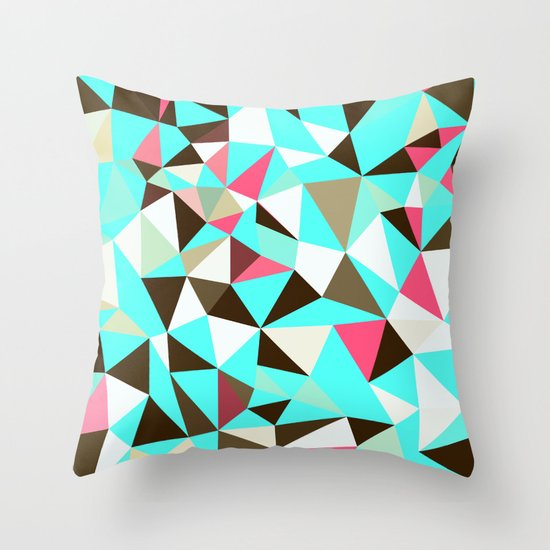 Cherry Mint Choco Tris Throw Pillow