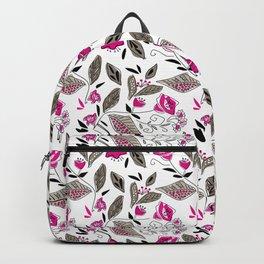 Floral black and Burgundy Backpack