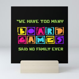 Board Game Lover Mini Art Print