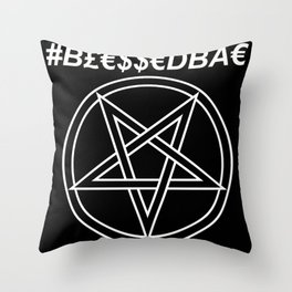 TRULY #BLESSEDBAE INVERTED Throw Pillow