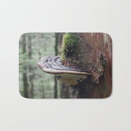 Magical Fungi World | Nature Photography Bath Mat