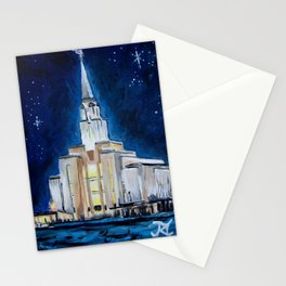 Oquirrh Mountain Utah LDS Temple Stationery Cards