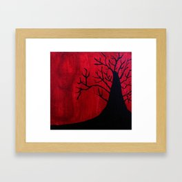 Red and Black Tree 1. Framed Art Print
