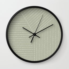 Lines (Linen Sage) Wall Clock