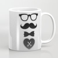 mustache Mugs featuring Mustache by frail