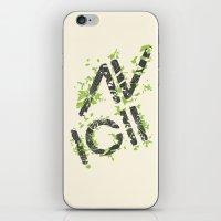 deadmau5 iPhone & iPod Skins featuring Grunge Avacii  by Sitchko Igor
