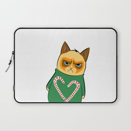 Ginger Cat in Holiday Sweater 04 Laptop Sleeve