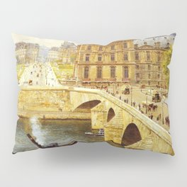 The Pont Royale and The Louvre, View of the Seine by Firmin-Girard Pillow Sham