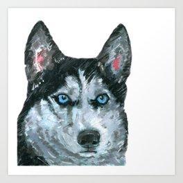 Husky printed from an original painting by Jiri Bures Art Print