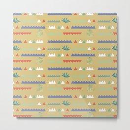 Geometrical Cacti Metal Print