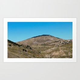 Magnificent mountain landscape of Bjelasnica mountain Art Print