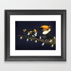 Christmas Toucans Framed Art Print