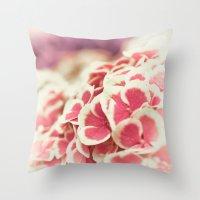 hydrangea Throw Pillows featuring Hydrangea by Julia Tomova