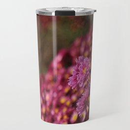 Colorful Pink Flowers Travel Mug
