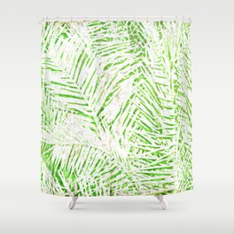 Tropical Fronds Shower Curtain