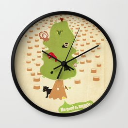 Be Good to Trees Wall Clock