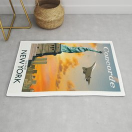 Concorde to and from New York Rug