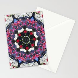 Orchids And Stone Wall Kaleidoscope 1763 Stationery Cards
