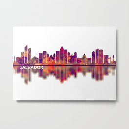 Salvador Brazil Skyline Metal Print