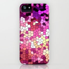Purple rhapsody stained glas iPhone Case