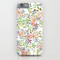 Blooming garden watercolor iPhone 6s Slim Case