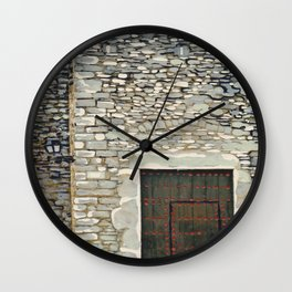 Heavy Wood Door Wall Clock