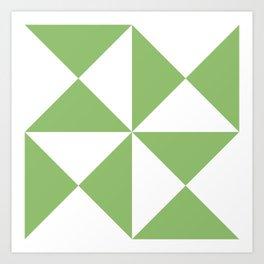 Olivine Triangles   Beautiful Interior Design Art Print