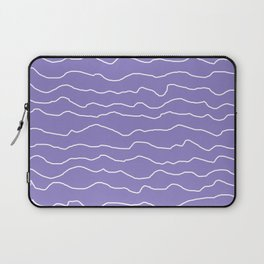 Lavender with White Squiggly Lines Laptop Sleeve