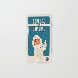 Vintage poster - Explore the Universe Hand & Bath Towel