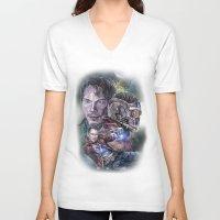 star lord V-neck T-shirts featuring Star Lord - Galaxy Guardian by Nina Palumbo Illustration