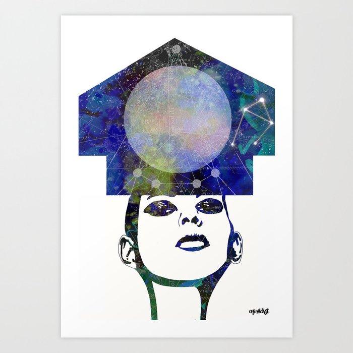 Libra (zodiac series 2) Art Print