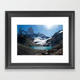 Laguna de los Tres Framed Art Print
