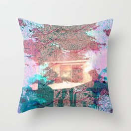 Lunar Arboretum Throw Pillow