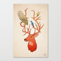antlers Canvas Prints featuring Antlers by Jonathan Sims