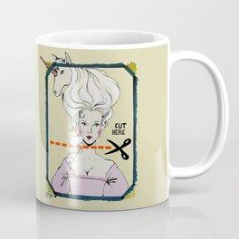 CUT HERE Coffee Mug