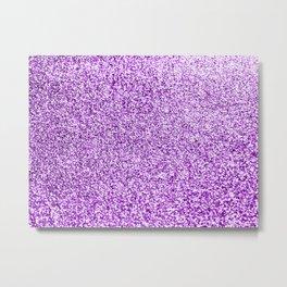Purple glittery Metal Print