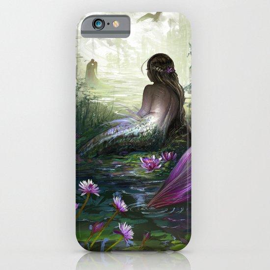 Little mermaid - Lonley siren watching couple in loving embrace kissing iPhone & iPod Case