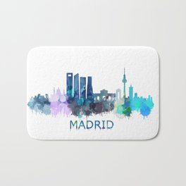 Madrid City Skyline HQ Bath Mat