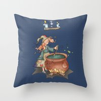 witch Throw Pillows featuring Witch by Catru