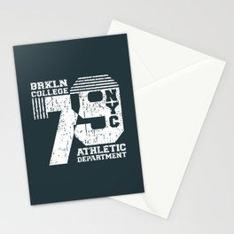 Vintage T-shirt Stamp - College NYC 79 Stationery Cards