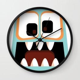 Bubble Beasts: Menacing Mint Fang Cleanser Wall Clock