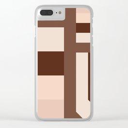 stripes pattern 9 geometric coi Clear iPhone Case