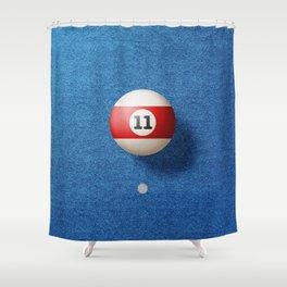 BALLS / Pool Billiard (eleven) Shower Curtain